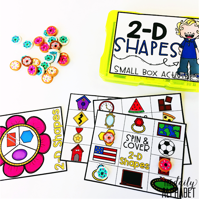 2-D Shapes: Small Box Activities is an easy to prep, purposeful activity, that is perfect for little hands. It can be used for morning work, a literacy center, early finisher work, etc. Any type of manipulative can be used for this activity, including but not limited to counters, coins, or erasers.
