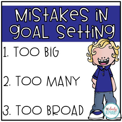 Mistakes in goal setting for primary students