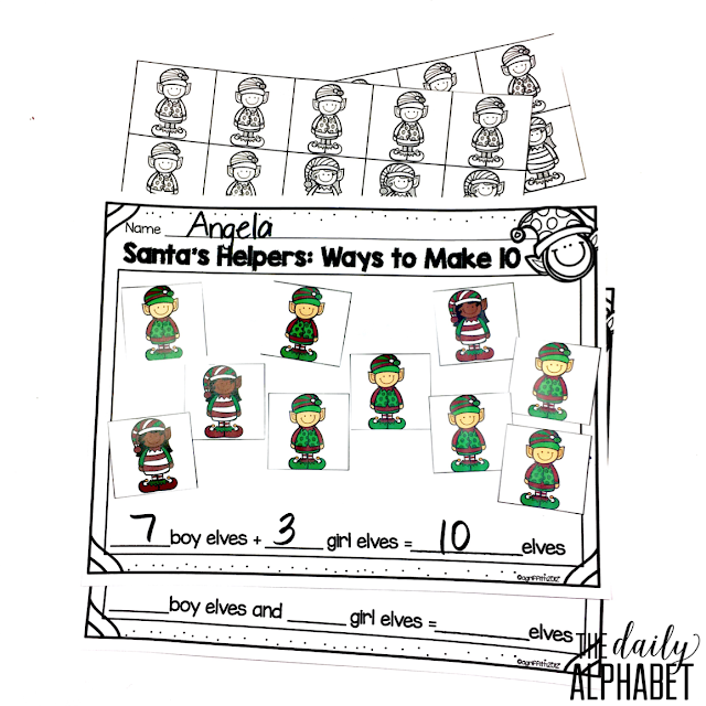 Do your students need more practice in ways to make the number 10? Santa's Helpers provide holiday themed practice for your students. There are two activities that students can utilize to practice this skill.