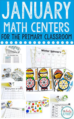 January Math Centers are great for kindergarten students to practice their numeracy skills!