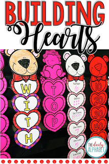 Building Hearts is an easy to prep activity that is great for the month of February. It includes literacy and math practice for the primary classroom! This activity can be used for a craft, center activity, early finisher work, or as an alternative to morning work.