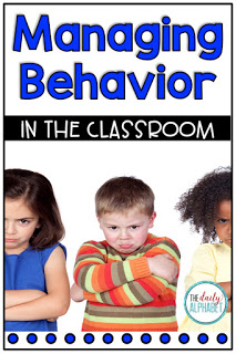 Great strategies and tips for managing behavior in the classroom!