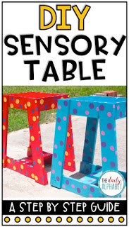 DIY Sensory Table is so easy to make! Step by step instructions are included to make a sensory table that is perfect for having loads of fun!