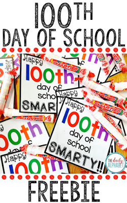 Celebrating the 100th day of school is great day for students!! This FREEBIE smarty label is a great end to the celebration!