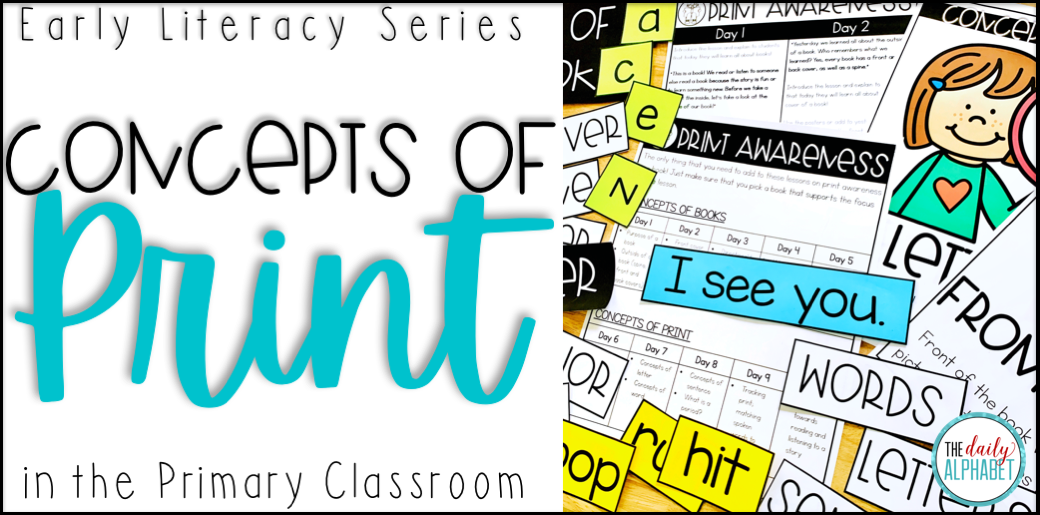 Teaching concepts of print the first few days of school is a great way to kick-off your daily literacy block! This set of free lesson plans will help you to know exactly where to begin!