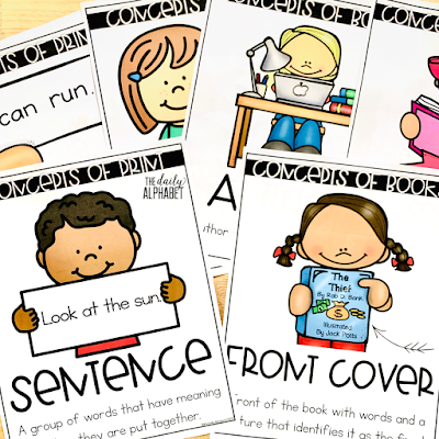 Teaching concepts of print the first few days of school is a great way to kick-off your daily literacy block! This free resource will help you to know exactly where to begin!