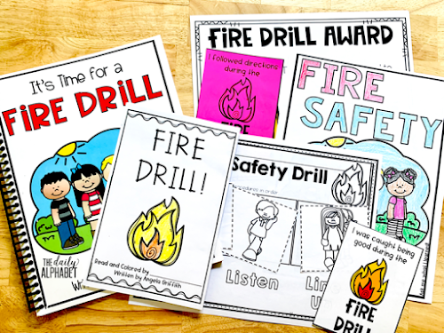Fire safety drills and procedures are important skills to practice during the first few weeks of school. This pack contains easy to implement activities and read alouds to make it so much easier!
