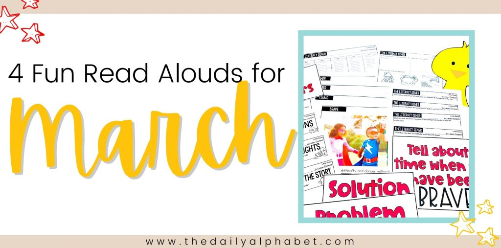 4 fun read alouds for March. Perfect for kindergarten students!