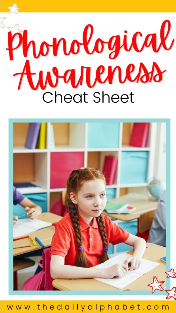Need info on phonological awareness at your fingertips?!? Grab your free cheat sheet now!
